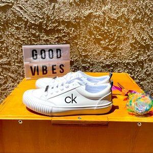 Calvin Klein Sneakers Women's White 8.5 lace NWT
